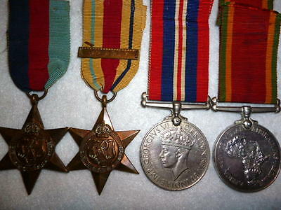 "WW2 Africa Star ""8th Army"" Clasp Named Medal Group of (4) Medals"