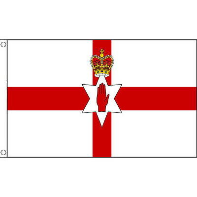 Northern Ireland Flags & Bunting -5x3' 3x2' & Giant 8x5' Table Hand Euro 2016