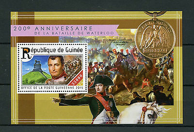 Guinea 2015 MNH Battle of Waterloo 200th Anniversary 1v S/S Napoleon Stamps