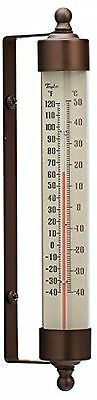 """Taylor Precious Spirit-Filled Metal Vintage Outdoor Thermometer 7.5"""" Waterproof"""