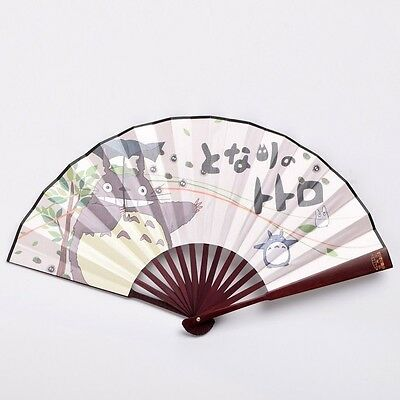 Anime Portable Fan My Neighbor Totoro Studio Chinese Hand Held Fan Cospaly Props