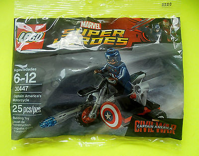Lego Super Heroes 30447 Captain America´s Motorcycle Polybag Ovp Neu 2016