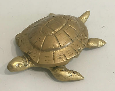 Vintage Messing Brass Ascher Schildkröte Bosse Baller Figur Turtle Ashtray 50s