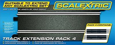Scalextric Straight Track Extension Pack 4 (C8526) - NIB