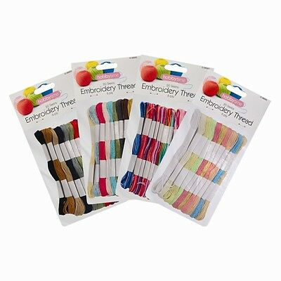 20 x Coloured Embroidery Thread Cotton Cross Stitch/Braiding/Craft Sewing Crafts