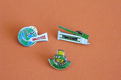 Lot 3 Pins Dentifrices : Superfluor, Colgate, Fluocaril / Très Bon État
