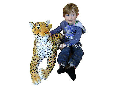 """Large Leopard Soft Toy Plush 140cm 50"""" Deluxe Paws ® Realistic Features"""