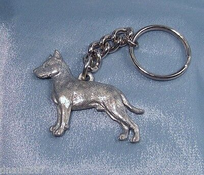 American Staffordshire Terrier Key Chain Fine Pewter by GG Harris
