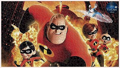 The Incredibles Movie Pixar Puzzles Disney Puzzle 500 Pieces Jigsaw Kids Hobbies