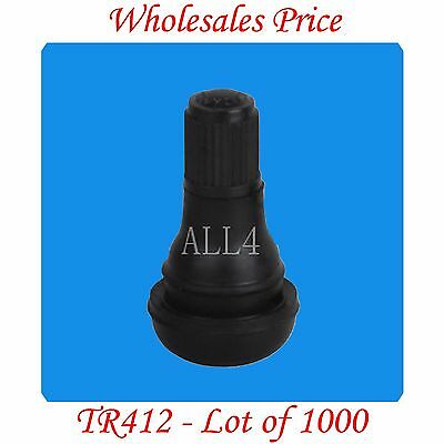 "1000 TR412 Tire Valve Stems Snap-In Rim Hole Dia. Inch 0.453 Length 7/8"" = 22 mm"