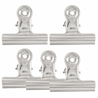 "HE527 5 x Files Paper Organize Spring Loaded Binder Clips Clamps 3"" Width"