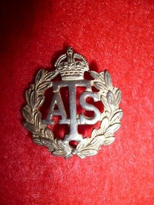Auxiliary Territorial Service WW2 Silver sweetheart / lapel pin, numbered