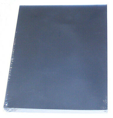 100p 8.5x11 Clear Plastic Report Cover 10mil Presentation Covers for Binding