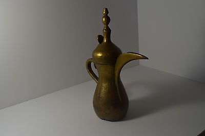 "Antique Islamic Arabian Copper & Brass 12"" دلة Dallah Bedouin Coffee Pot"