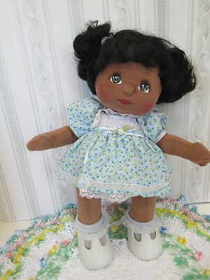 Vintage African American My Child Doll With Pigtails, Mattel Excellent Condition