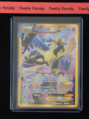 SECRETE Alakazam Ex FULL ART 160pv 125/124 XY Impact des Destins Carte Pokemon