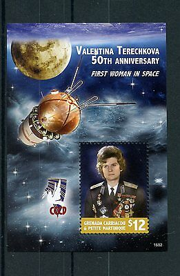 Grenadines Grenada 2016 MNH Valentina Terechkova First Woman Space 1v S/S Stamps