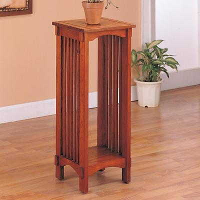 Mission Style Plant Side Stand Table in an Oak Finish by Coaster 4040