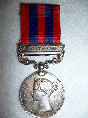 India General Service Medal 1854-95, one bar, Hazara 1891, to 4th Sikh Infantry