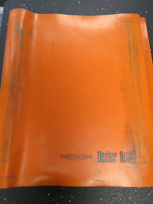 Harley Davidson News Binder with contents from 1960s dealer