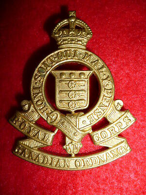 Wwii - Royal Canadian Ordnance Corps Cap Badge