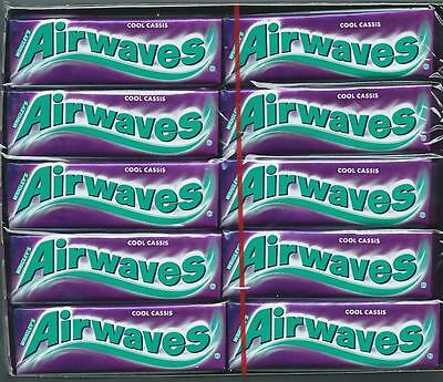 30x Wrigleys Airwaves Cool Cassis Blackcurrant Chewing Gum Full 30 pack 300 pcs