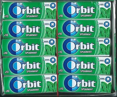 30x Wrigleys Orbit Spearmint Chewing Gum Full 30 pack 300 pcs