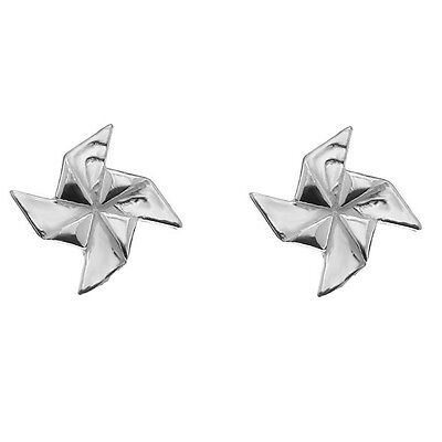 FASHIONS FOREVER® 925 Solid Sterling Silver Windmill Stud Earrings