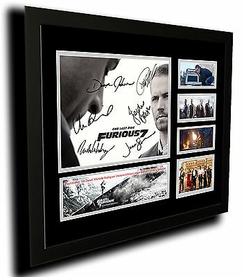 Fast And Furious 7 Paul Walker Signed Limited Edition Framed Memorablia