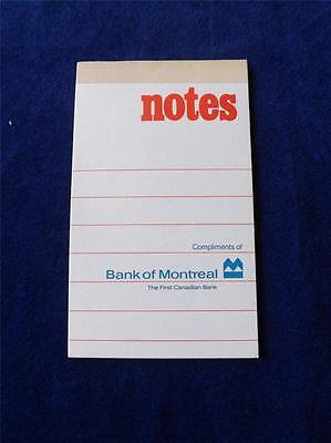 Bank Of Montreal Notebook Vintage Advertising Scratch Pad First Canadian Bank