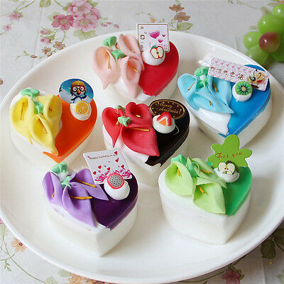 Artificial Simulation Fake Food Cream Small Heart-shaped Cake Fridge Magnet Pict