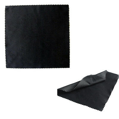 10PCS Black Microfiber Cleaning Cloth for Eyeglass Camera Lens Screen Cleaner