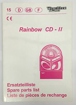 Jukebox Manual - Wurlitzer Rainbow Cd-Ii   Spare Parts List