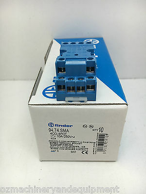 Finder 94.74.SMA Relay Socket for 55.34 Series Relays Box of 10