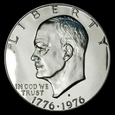 1974 S PROOF EISENHOWER DOLLAR 40/% SILVER GEM CAMEO IKE COIN ~IN CAPSULE!