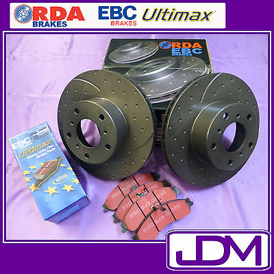 HOLDEN JACKAROO 1992- 9/2004 - SLOTTED/DIMPLED RDA Rear Brake Discs & Pads