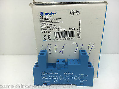 Finder 95.85.3 Relay Socket for 40,41,44 Series Relays Box of 10