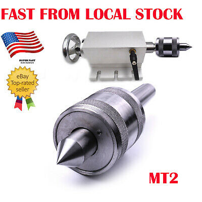 Silver Tone MT2 Live Center Morse Taper 2MT Triple Bearing Lathe Medium Duty CNC