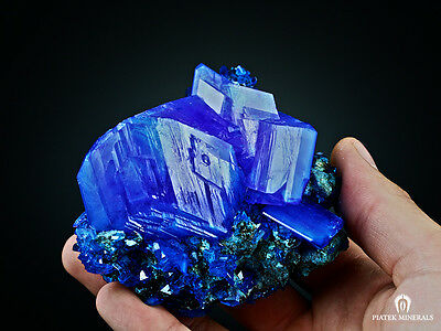 WoW! ~XXXL~ TOP QUALITY ! Electric Blue CHALCANTHITE on Matrix from POLAND