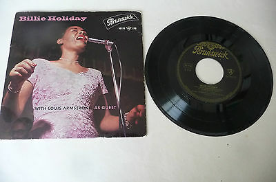 "BILLIE HOLIDAY ""WITH LOUIS ARMSTRONG -disco 45 giri EP BRUNSWICK Ger"" RARO"