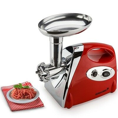 NEW Euro-Chef Electric Meat Grinder Sausage Maker Filler Mincer Stuffer Kibbe