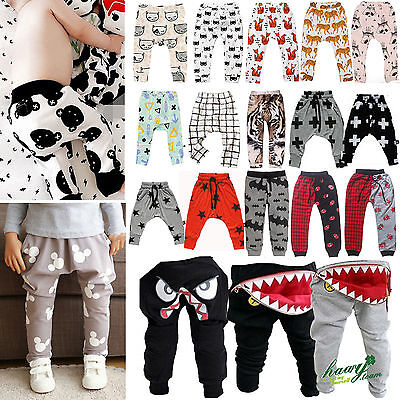 Infant Clothes Boys Girls Harem Long Jogger Pants Trousers PP Leggings Bottoms
