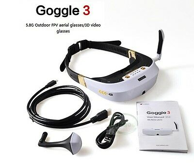 Original Walkera Goggle 3 Glasses 5.8G 32CH Head Tracker 3D Video Glasses F17777