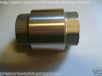 """1/2"""" INLINE CHECK VALVE FxF NPT SOLID BRASS LOW PRESSURE FOR INLETS TANKS"""