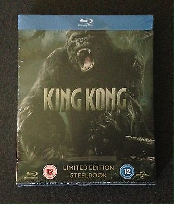 KING KONG Blu-Ray SteelBook Extended Zavvi UK Exclusive Region Free 1/2500 Rare!