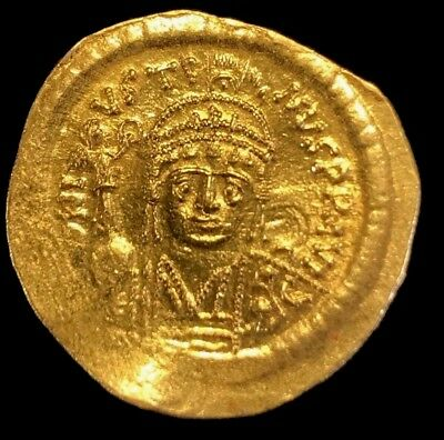 Ancient Byzantine Coin Justin Ii, 565-578 Ad Scarce Solid Gold Coin! Choice!