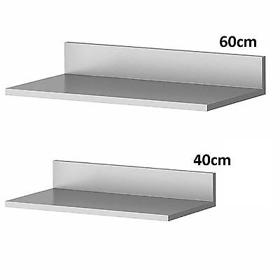 Stainless Steel Wall Mounted Shelve Shelf Rack Kitchen Home Office Equipement