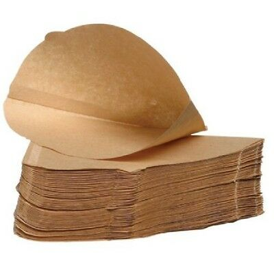Unbleached COFFEE FILTER PAPERS Cones 1-4 Cups Size 4 for Espresso