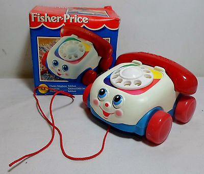 Fisher Price Vtg 1997 # 72251 Chatter Telephone Pull Toy Unused European Boxed