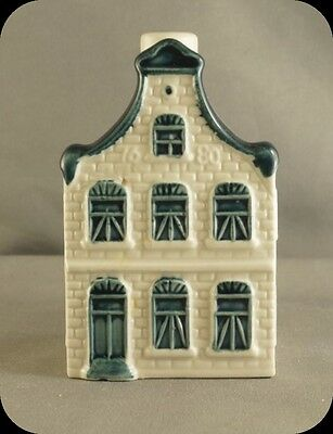 KLM Blue Delft Miniature House Decanter #5 Made for KLM By Bols Distilleries